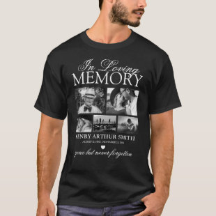 Elegant 5 Photo In Loving Memory T-Shirt