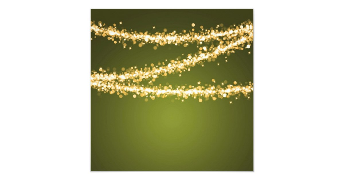 Elegant 60th Birthday Party Green String Lights Card Zazzle