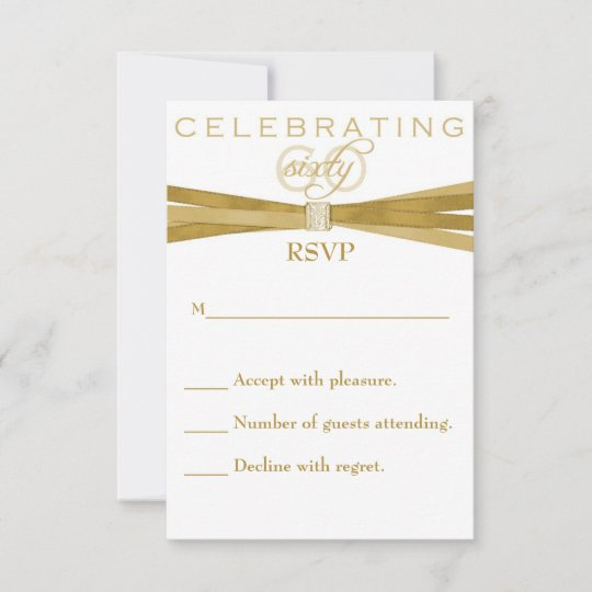 Elegant 60th Birthday Party Invitations Rsvp Card