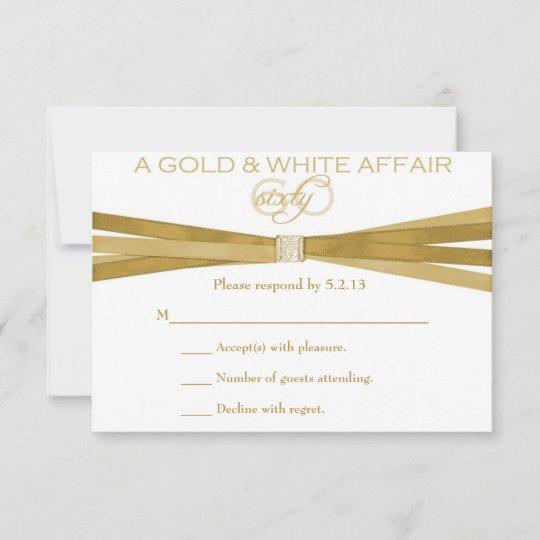 elegant 60th birthday party invitations rsvp card  zazzle