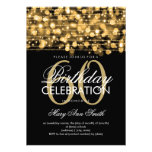 Elegant 60th Birthday Party Sparkles Gold Personalized Invitations