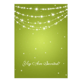 Elegant 60th Birthday Party Sparkling Chain Lime Cards