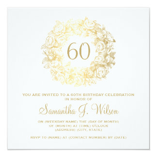 60Th Birthday Invitation gangcraftnet