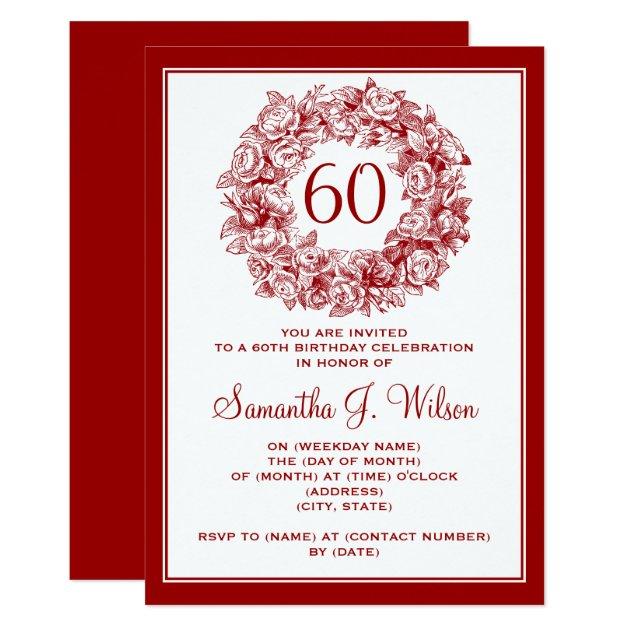 Invitation 60Th Birthday for beautiful invitations layout
