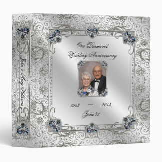 "Elegant 60th Wedding Anniversary 1.5"" Photo Binder"