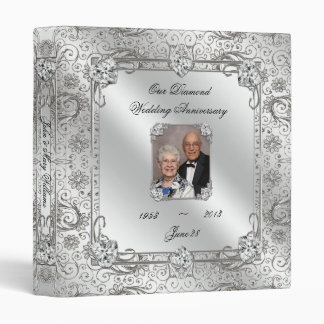 "Elegant 60th Wedding Anniversary 1"" Photo Binder"