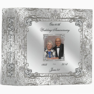 "Elegant 60th Wedding Anniversary 2"" Photo Binder"
