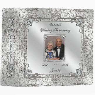 "Elegant 60th Wedding Anniversary 2"" Photo Binder"