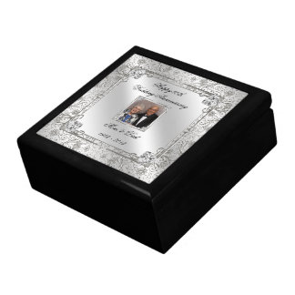 Elegant 60th Wedding Anniversary Photo Gift Box