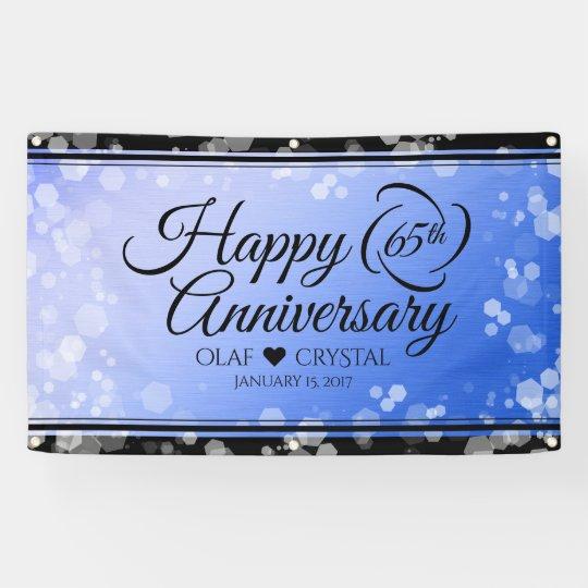 elegant 65th blue sapphire wedding anniversary banner zazzle com