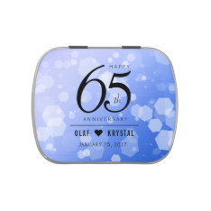 Elegant 65th Blue Sapphire Wedding Anniversary Candy Tin at Zazzle