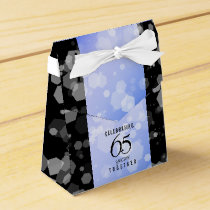 Elegant 65th Sapphire Wedding Anniversary Favor Box