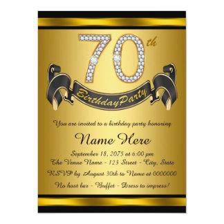 Elegant 70th Birthday Party Card
