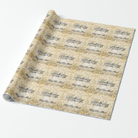 Elegant 70th Birthday Party Gold Glitter Lights Wrapping Paper