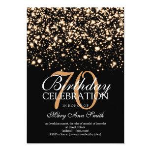 Elegant 70th birthday invitations zazzle elegant 70th birthday party gold midnight glam invitation filmwisefo