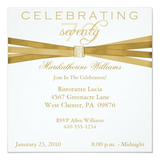 Elegant 70th birthday party invitations zazzle elegant 70th birthday party invitations filmwisefo