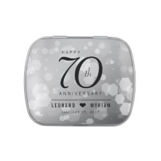 Elegant 70th Platinum Wedding Anniversary Jelly Belly Candy Tins at Zazzle