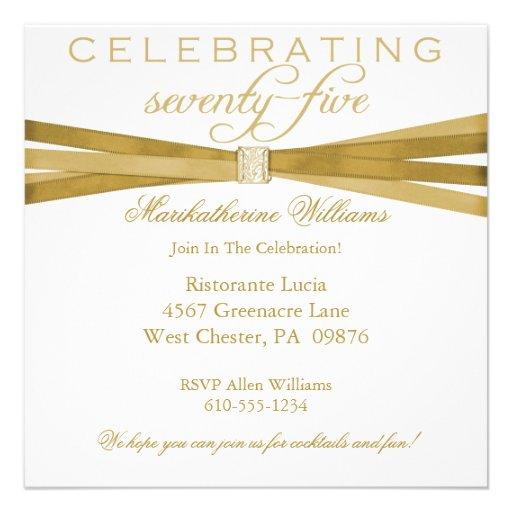 Personalized 75th Birthday Invitations Custominvitations4u Com