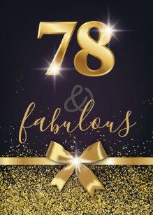 78th Birthday Invitations