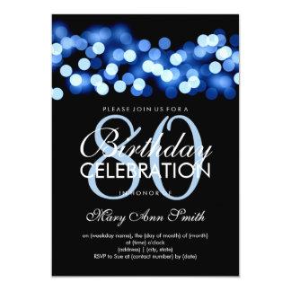 Elegant 80th Birthday Party Blue Hollywood Glam Card