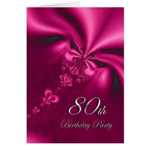 Elegant 80th Birthday Party Invitation Greeting Card
