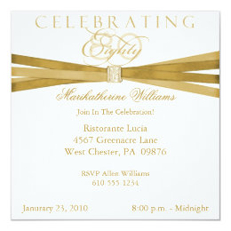 80th birthday party invitations announcements zazzle elegant 80th birthday party invitations filmwisefo Gallery