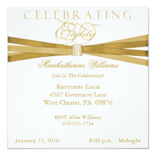 80th birthday party invitations announcements zazzle elegant 80th birthday party invitations filmwisefo Image collections