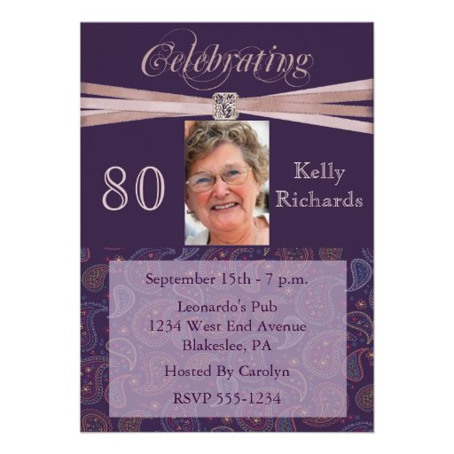 80th birthday invitation