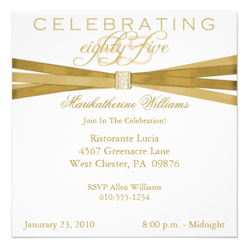 Personalized 85th birthday Invitations – 90th Birthday Invitations Templates