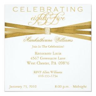 Elegant 85th Birthday Party Invitations