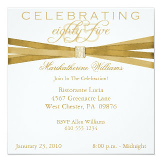 85th Birthday Invitations Announcements Zazzle