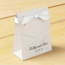 Elegant A Monogram Wedding Favor Boxes