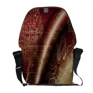 Elegant Abstract Art 1 Messenger Bag