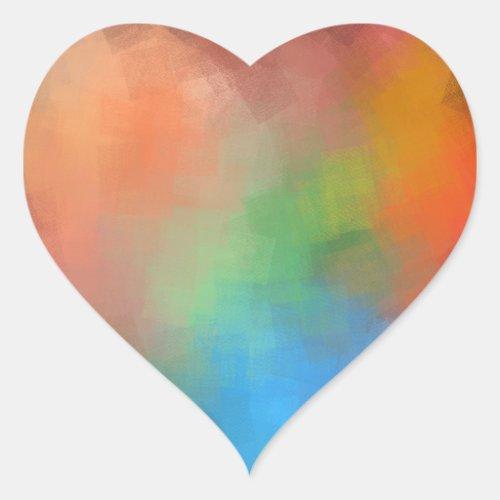 Elegant Abstract Art Blank Modern Template Heart Sticker