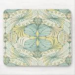 elegant abstract art nouveau swirl design mouse pads