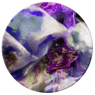 Elegant Abstract Artful Purple Dinner Plate