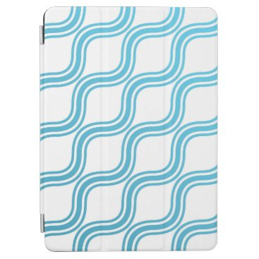 Elegant Abstract Blue Waves Pattern iPad Air Case
