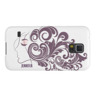 Elegant Abstract Floral Hair Stylist Galaxy S5 Case