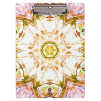 elegant abstract flower design pattern chic yoga clipboard