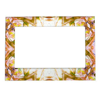 elegant abstract flower design pattern chic yoga magnetic picture frame