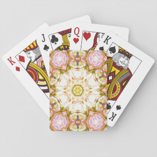 elegant abstract flower design pattern chic yoga playing cards