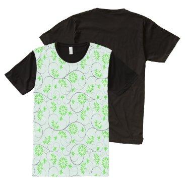 Art Themed Elegant Abstract Flowers 5 All-Over-Print Shirt