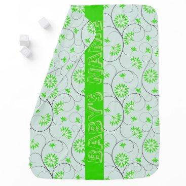 Art Themed Elegant Abstract Flowers 5 Receiving Blanket