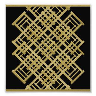 Elegant Abstract Geometric Photographic Print