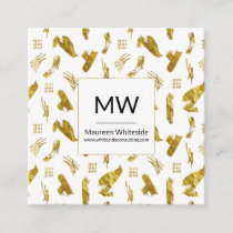 Elegant Abstract Gold Foil Style Business Card