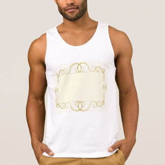 elegant abstract gold frame tank