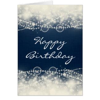 Happy Birthday Elegant Note Cards   Zazzle