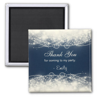 Elegant Abstract Lace and Pearls Party Favor Magnet