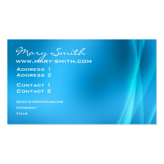 Elegant Abstract Lights Blue Business Card