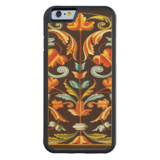 elegant abstract swirls fall home decor fall carved maple iPhone 6 bumper case